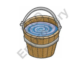 Water Bucket - Machine Embroidery Design
