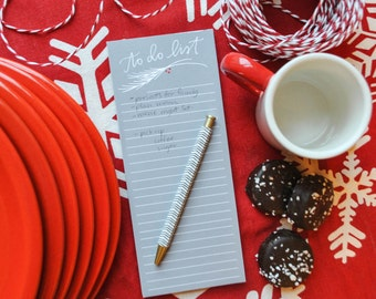 christmas to do list notepad // holiday shopping list // holiday meal planner // holiday to do list // stationery notepad