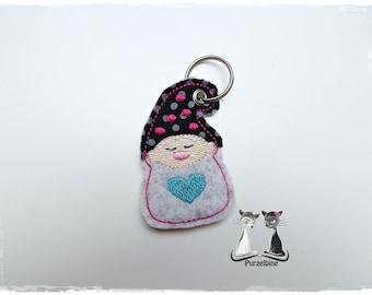 Keychain - IMP - wool felt - pink