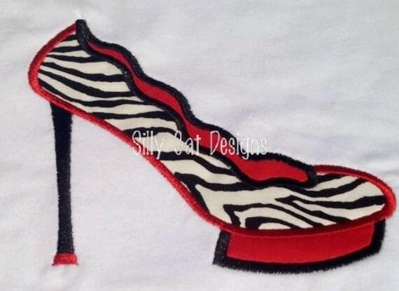 Stiletto Applique Machine Embroidery Design