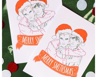 The Smiths - Moz & Marr - Merry Smithsmas Christmas Card / 5 X 7