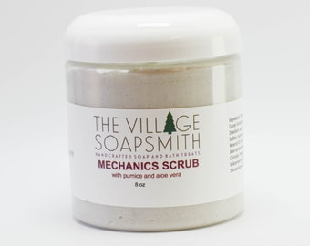 Mechanics Scrub with pumice and aloe vera, hand scrub, grease remover,  gift for him, gardeners soap, pumice scrub, mechanics soap