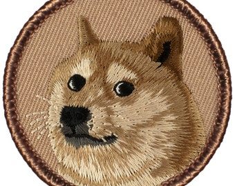 "Doge (Shiba Inus (nicknamed ""Shibe"")) Patch (673) 2 Inch Diameter Embroidered Patch"