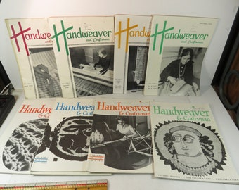 Handweaver and Craftsman Magazine Individual Issue Your Choice 1950 thru 1975