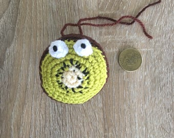 Crochet kiwi fruit