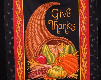 Give Thanks Quilted Wall Hanging
