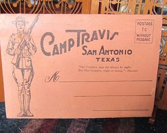 World War I Accordion Fold Postcards from Camp Travis Texas