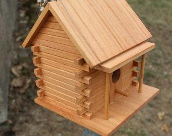 Handmade Log Cabin Birdhouse