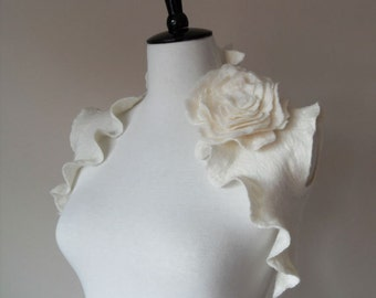 Wedding Bridal Bolero Shrug Ivory