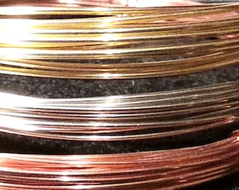 20 gauge Red Brass Wire for jewelry crafts Dead Soft round wire - 15 feet