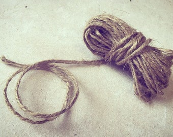 20m Natural Brown Twine - perfect for decorating, crafting, gardening, weddings - 2.5mm width