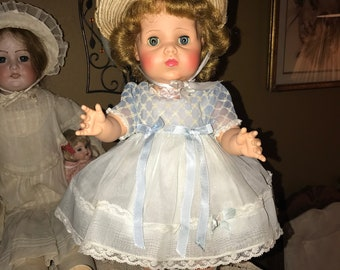 """Gorgeous Vintage 1950s American Character 17"""" """"Baby Sue""""  All Original Doll"""