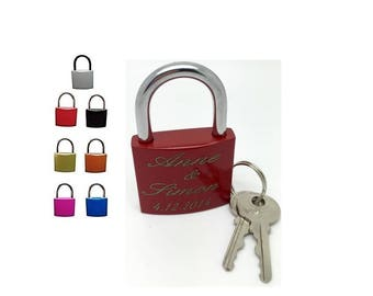 Love castle with engraving laser lock padlock