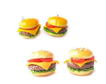 Burger Earring Studs