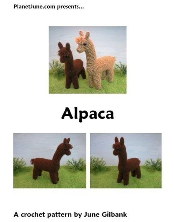 PDF Alpaca amigurumi CROCHET PATTERN natural fiber fibre