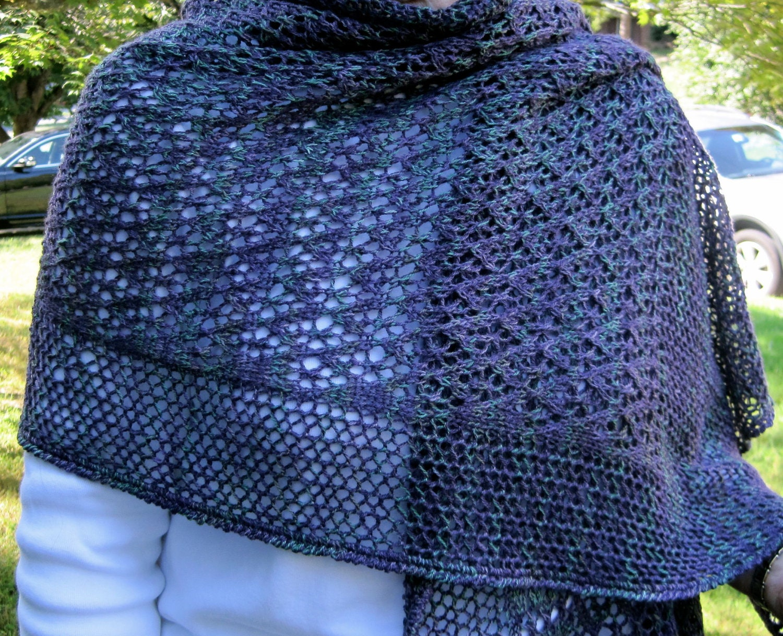 Knit Wrap Pattern: Starlight Lace Shawl Knitting Pattern