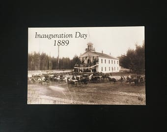 Inauguration Day Postcard from Olympia Washington, 1889 Photo Print, 1980's Postcard, Ships Free in USA