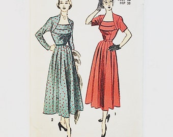 40s Evening Dress Pattern | Advance 5345 Misses Dress Pattern | 40s Sewing Pattern