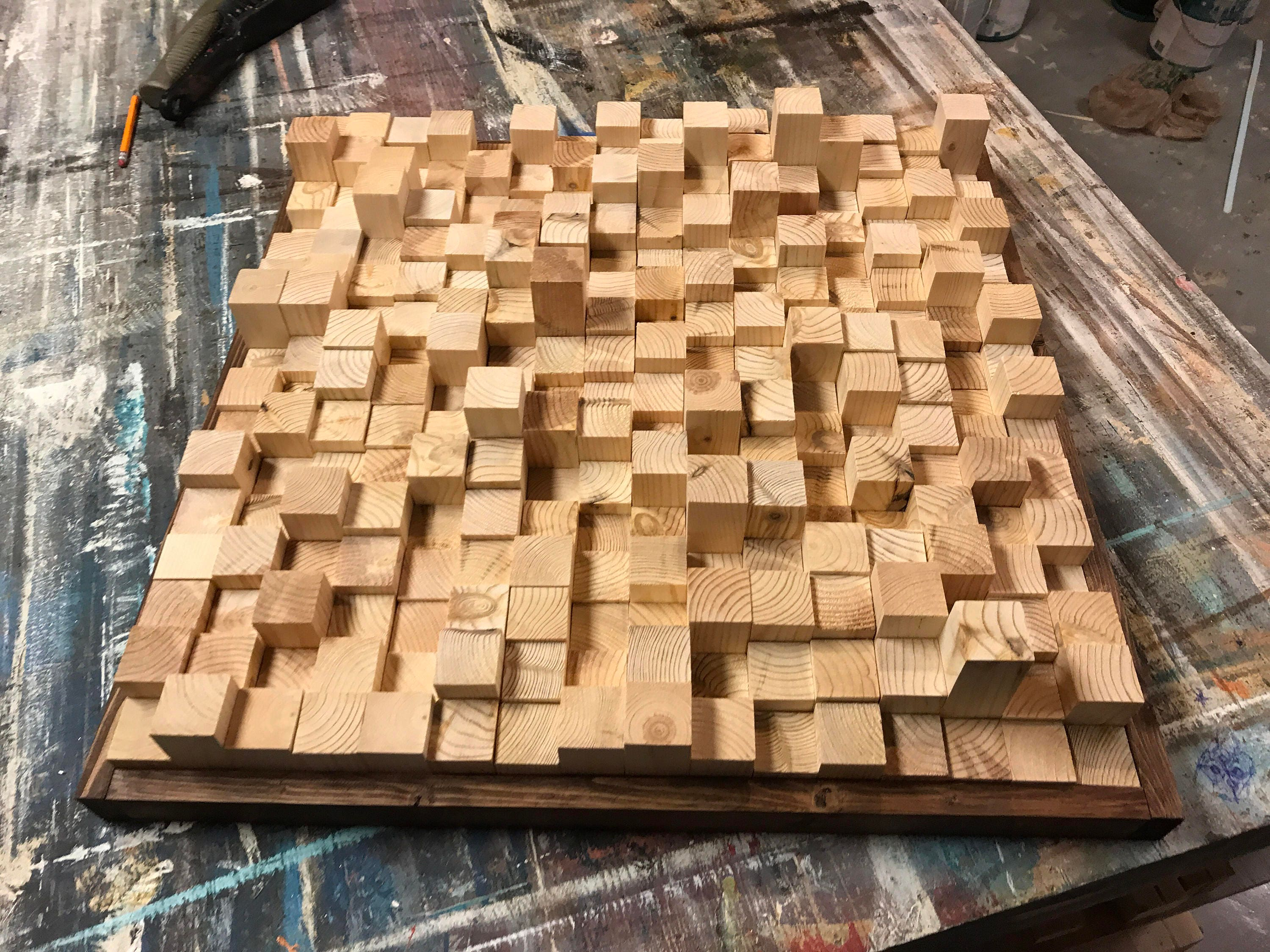 New natural wood sound diffuser acoustic panel Reclaimed Wood