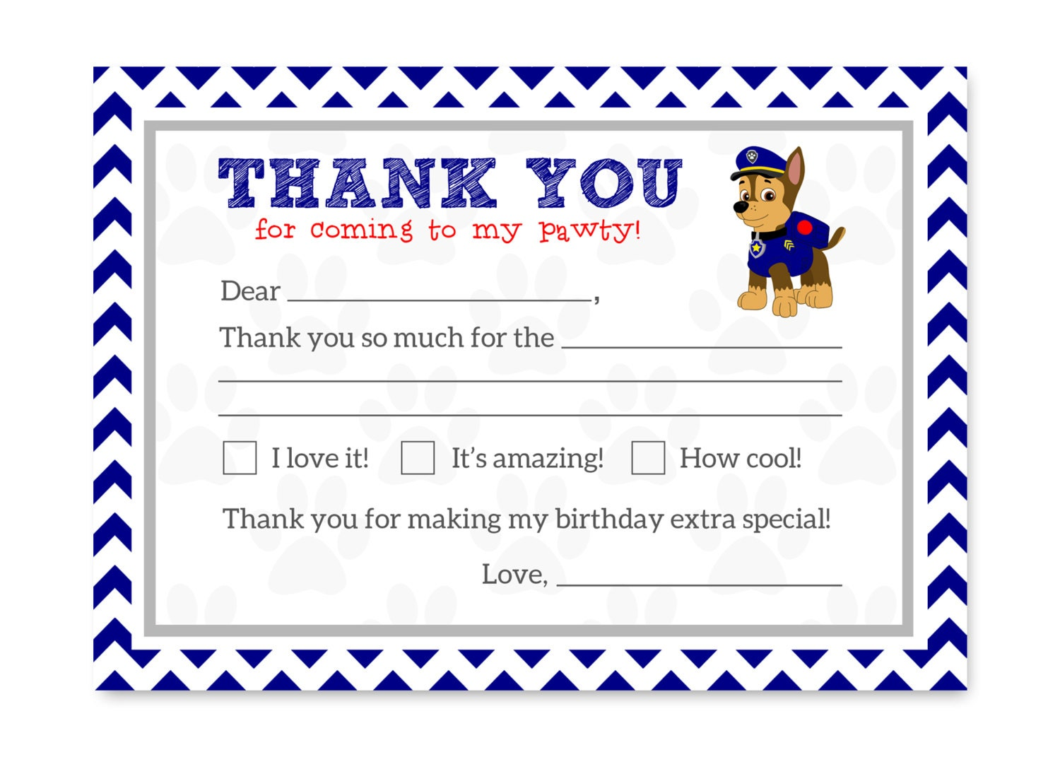 This is a photo of Lucrative Paw Patrol Printable Birthday Card