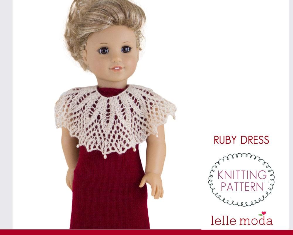 Doll Christmas Dress Pattern Doll Evening Dress Knitting
