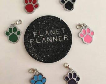 Paw Print Charm, Paw Print Keyring, Paw Print Planner Charm, Pawprint Charm, Pawprint Handbag Charm, Pawprint Keychain, Paw Print Gift.