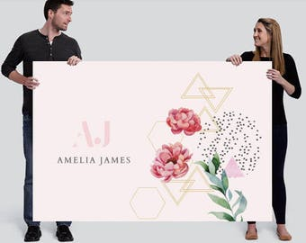 Amelia James Banner (LARGE - 4' x 6') | FLORAL