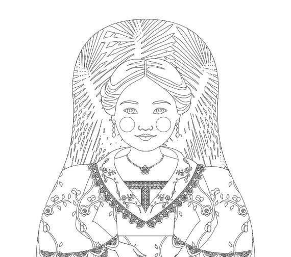 Filipina Doll Traditional Folk Dress Coloring Page Printable