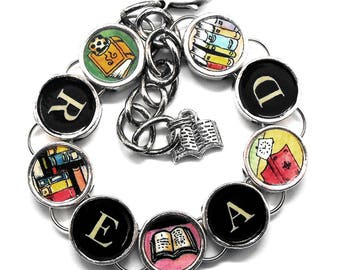 Read Bracelet Book Lover Gift Readers Jewelry Bibliophile