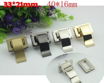 10sets  33*21mm  metal Longer tongue thumb lock, purse bag closure in gold/gun-metal/brass/silver hardware wholesale  ks-931