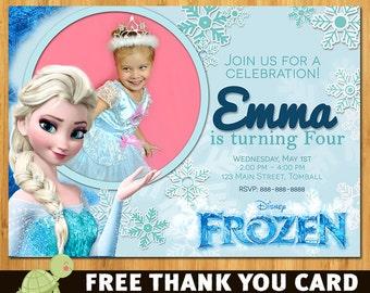 Frozen Birthday Invitation- Frozen Birthday Party- Frozen Invitation