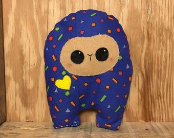 Colorful Patch Huggle | Cute Monster Plush, Cute Stuffed Toy, Stuffed Animal, Handmade Plush Toy