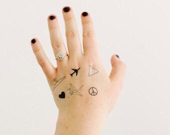 6 Tiny Classic Temporary Tattoos - SmashTat