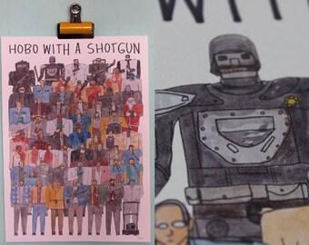 Hobo With A Shotgun Team Illustration