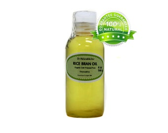 4 oz  Pure Rice Bran Oil Organic Cold Pressed