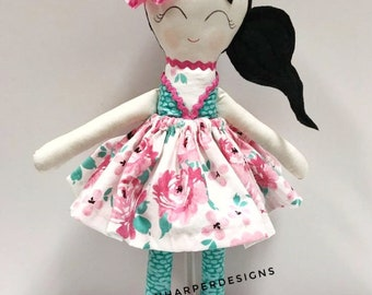 Modern Rag Doll, Blossom. Limited Edition. Rag Doll. Great Gift. Customizable.