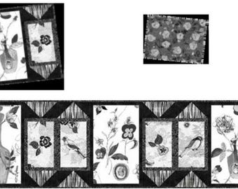 Still Life Table Runner, four Placemats and four Mug Rugs Kit