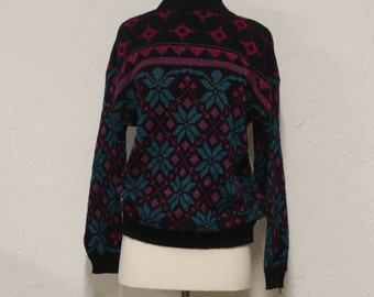 sparkly patterned sweater