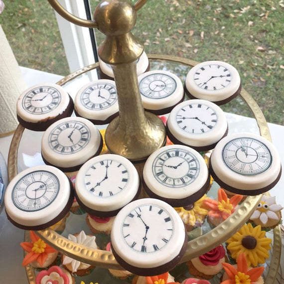 Edible Clock Faces Wafer Rice Paper Wedding Cake Decoration