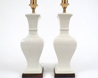 Set of 2 ceramic lamps, 1970s.