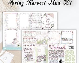 Spring Harvest Mini Kit | Planner Stickers | ECLP