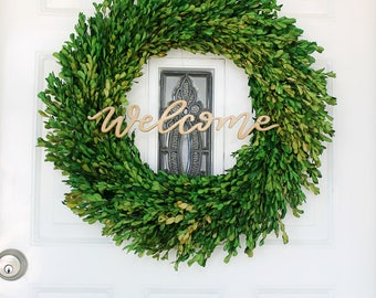 Welcome Sign / Welcome Wreath / Front Door Decor / Wood Sign / *Wreath Not Included in Purchase*