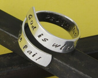 Psalm 46:5 Ring - God Is Within Her, She Will Not Fail Ring - Adjustable Ring - Twist Ring - Wrap Ring - Custom Ring - Size 7 Ring - Size 8