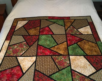 Mosaic  Christmas wall hanging/QUILT