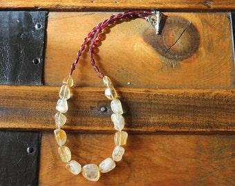 Abundant Courage Citrine Garnet Necklace