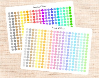 Mini Dots Functional Basics (matte planner stickers, Erin Condren, Happy Planner)
