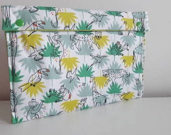 Diaper clutch, pouch layers - animals