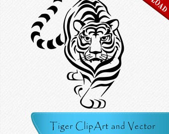 Tiger SVG, Tiger Head Clipart, Tiger Head SVG, Clipart, Cut, silhouette files, svg cutting files, files for silhouette, cricut svg files