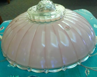 Vintage Pink Lamp Shade Light Shade