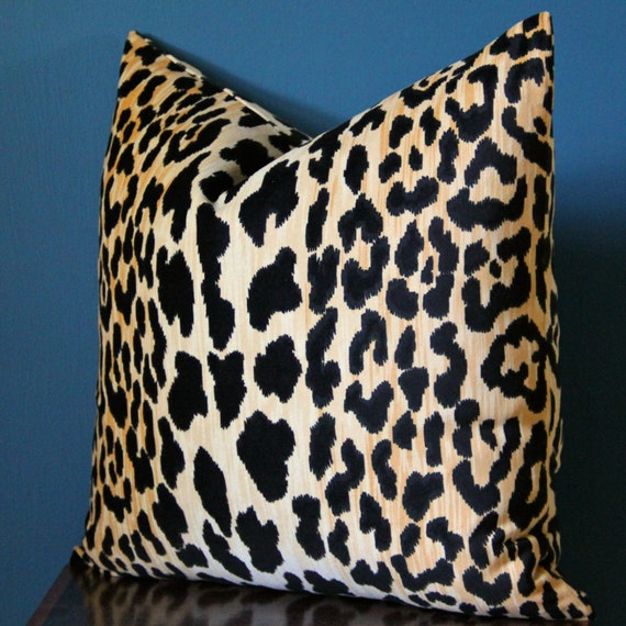 black leopard plush throw accent new animal print velvet designer index gold short thin decorative cover img pillow and